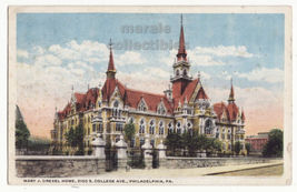 Philadelphia PA Mary J Drexel Home , S. College Ave. c1923 old postcard ... - $4.55