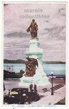 Old Cars Below Monument Champlain Quebec Canada QC c1920s postcard M8815 - $2.71