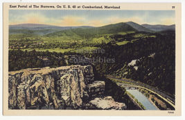 East Portal of the Narrows, US 40 Highway, Cumberland MD Maryland postca... - $7.31