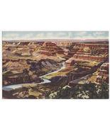 Grand Canyon AZ North fm Watch Tower at Desert View c1930s linen postcar... - $3.63