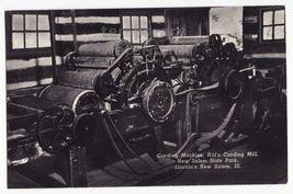 NEW SALEM STATE PARK IL HILL'S 1804 WOOL CARDING MACHINE~c1960s postcard - $7.31