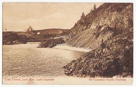 Ontario Coal Chutes, Jack Fish, Lake Superior on CPR 1900s Canada postca... - $2.71