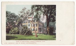 Cambridge MA Home of James Russel Lowell 1900 UDB Detroit Photographic p... - $4.55