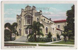 ARCADIA FL TRINITY METHODIST CHURCH c1930s-1940s vintage postcard - $3.63