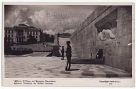 GREECE ATHENS - TOMB OF UNKNOWN SOLDIER MONUMENT 1930s RPPC real photo p... - $9.15