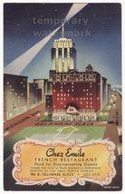 CHICAGO IL CHEZ EMILE FRENCH RESTAURANT c1940s VINTAGE ADVERTISING POSTCARD - $20.24
