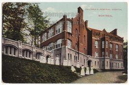 MONTREAL CHILDRENS MEMORIAL HOSPITAL & NURSES c1915  postcard QC PQ CANADA - $16.56