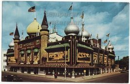 MITCHELL SD  WORLD's ONLY CORN PALACE ~1964 SIGNS~ SOUTH DACOTA postcard - $2.71