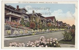 SEATTLE WA TYPICAL RESIDENCES ~ BEAUTIFUL HOMES ~ 1930s postcard - $3.63