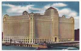 Chicago Illinois - Merchandise Mart Building c1950s city view postcard - $3.22