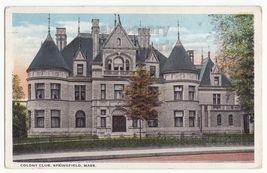 SPRINGFIELD MA  COLONY CLUB BUILDING ~1920s vintage postcard - $3.63