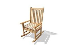 """Valencia High Back Rocking Chair, Premium Grade A Teak 27"""" W (Cushion No... - $495.00"""