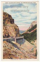 Golden Gate Canyon Yellowstone National Park C1920 1930s Postcard - $2.71