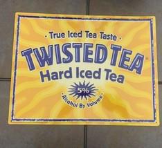 """Twisted Tea Tin Wall Tacker Metal Sign 13.5 X 17.5"""" Man Cave Bar Decor - $26.97"""