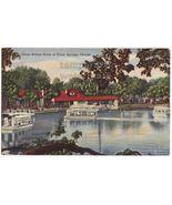 SILVER SPRINGS FL GLASS BOTTOM BOATS~1940s vintage postcard - $3.22