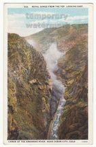 ROYAL GORGE FM TOP ARKANSAS RIVER CANYON~NEAR CANON CITY COLORADO~1920s ... - $3.63