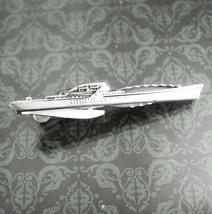 NY Ship Building Corp Tie Clip Vintage Military Battleship Naval Ship Designer H - $95.00