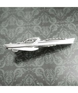 NY Ship Building Corp Tie Clip Vintage Military Battleship Naval Ship De... - $95.00