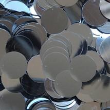 "Sequins Hematite Gunmetal Shiny Gray 24mm (1"") Flat Round Top Hole Paill... - $11.97"