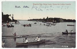 Regatta Day, Stony Lake, Kawartha Lakes Ontario Canada c1909 postcard - $8.23
