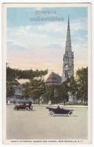 New Rochelle NY Trinity Episcopal Church and Chapel c1920s old postcard - $3.63