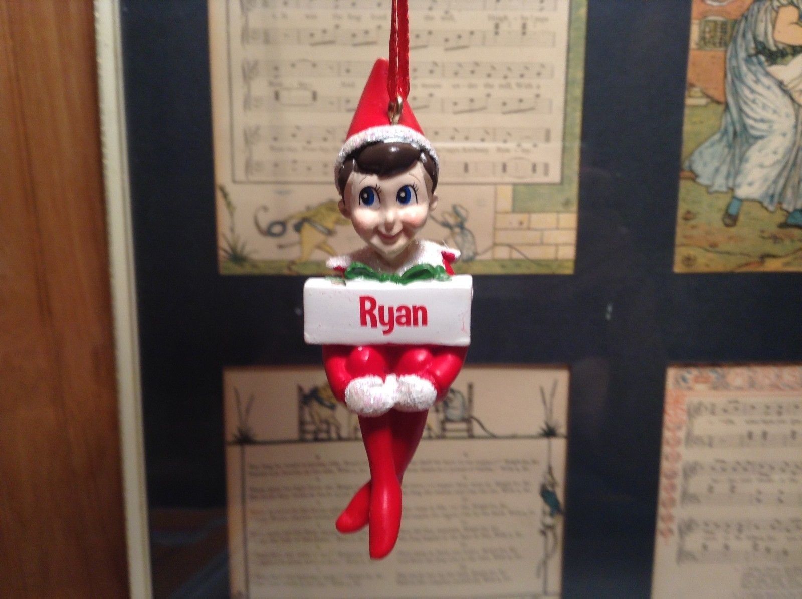 Dept 56 - Elf on the Shelf -  Ryan banner Christmas Ornament