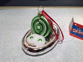 Green Eggs and Ham Dr Seuss Glass Ornament