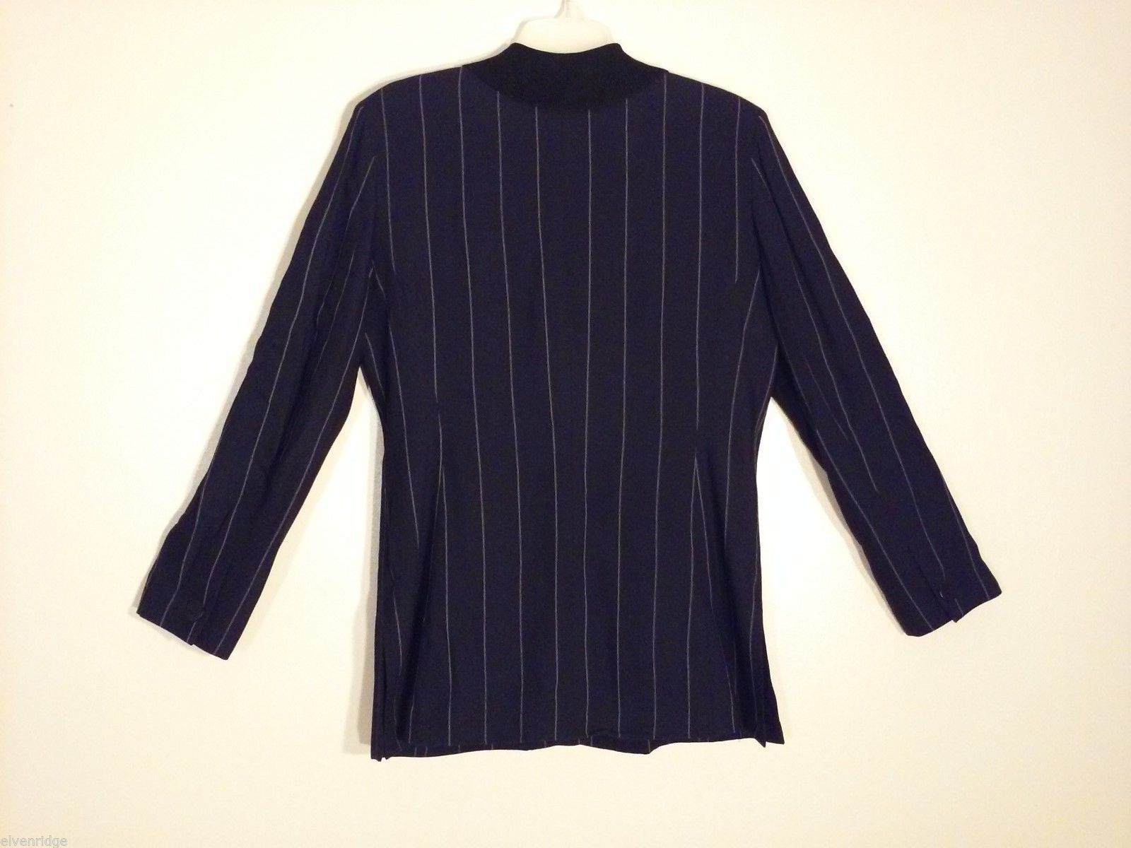 Womens Ann Taylor Black Pinstriped Blazer, Size 10