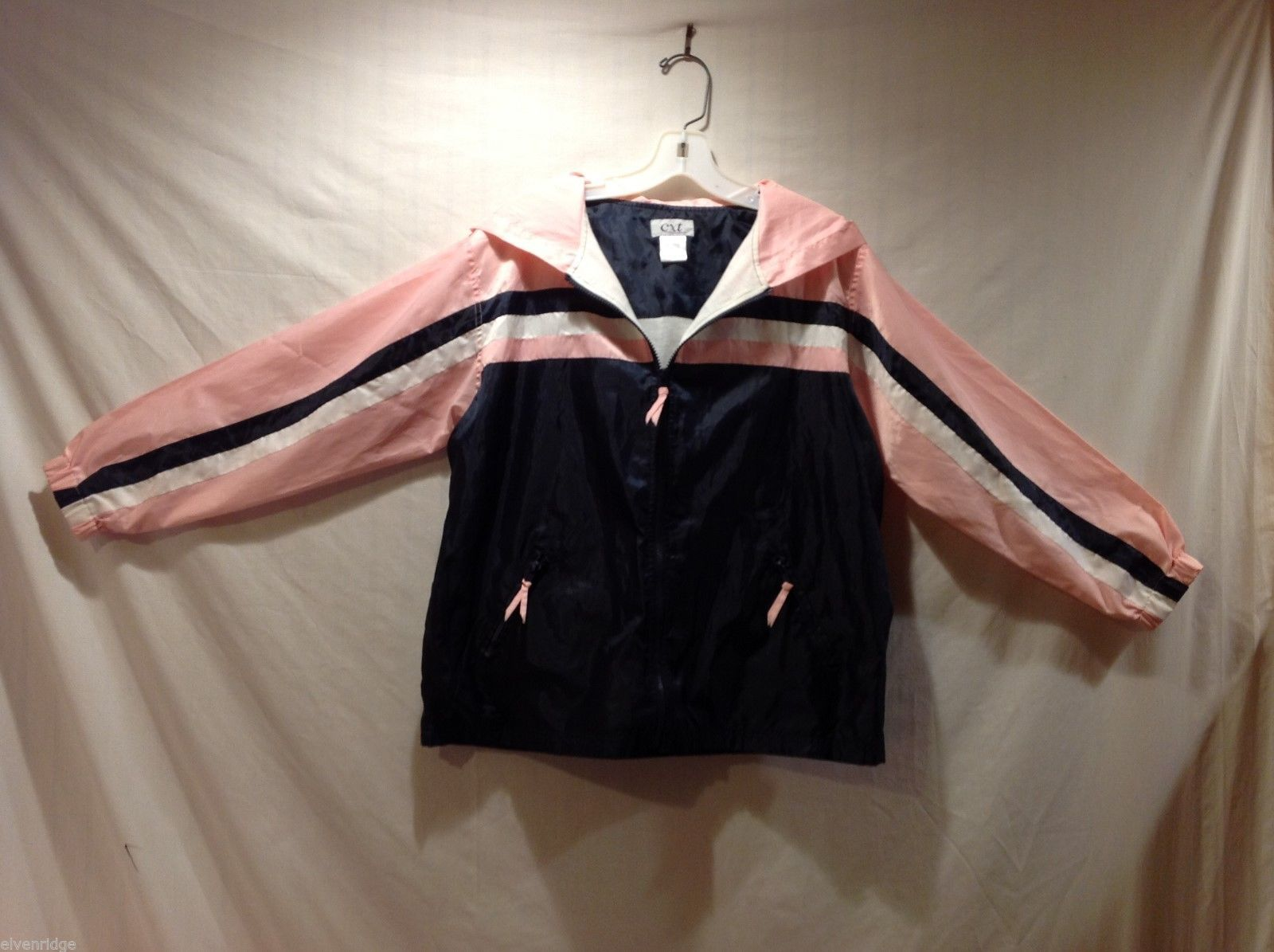Womens CXT Classics Black and Pink Wind Breaker Jacket, Size MP