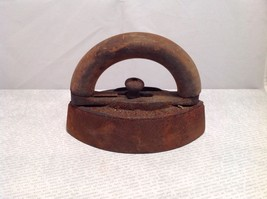 antique sad iron, cast, wooden handle, rustic, ... - $29.70
