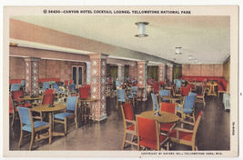 Yellowstone National Park-Canyon Hotel Cocktail Lounge c1930s Haynes postcard~WY - $3.63