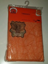"""Sheer Orange Lace Spider Web Halloween Tablecloth Table Cover 52 x 70"""" S... - $11.88"""
