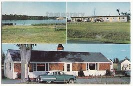 ALEXANDRIA BAY NY - HILLTOP MOTEL and MOTOR COURT -  c1950s-60s vintage ... - $5.47