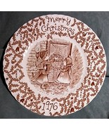 Christmas Plate - 1976 - Brown - A Happy Holiday to You by Royal Crownfo... - $19.00