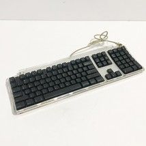 2000 Apple Pro Keyboard M7803 Clear w/ Black Keys Expanded w/ USB Hubs W... - $21.95