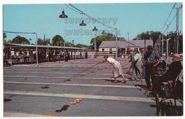 BRADENTON FL ~ PLAYERS at SHUFFLEBOARD CLUB ~1960s vintage FLORIDA postcard - $3.63