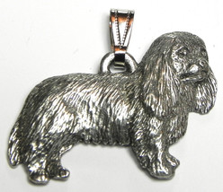 Cavalier King Charles Spaniel Pendant Dog Harris Fine Pewter Made in USA... - $10.99