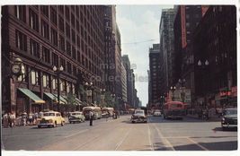 Chicago IL Downtown, State Street South from Randolph ~ Old Cars c1959 p... - $4.55