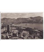 SPAIN CARTAGENA MURCIA BAHIA PARTIAL BIRDS EYE VIEW ~c1940s RPPC postcard - $7.31