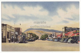 Cody Wy~Main Street Town View~Business District~1950s Vintage Postcard - $3.63