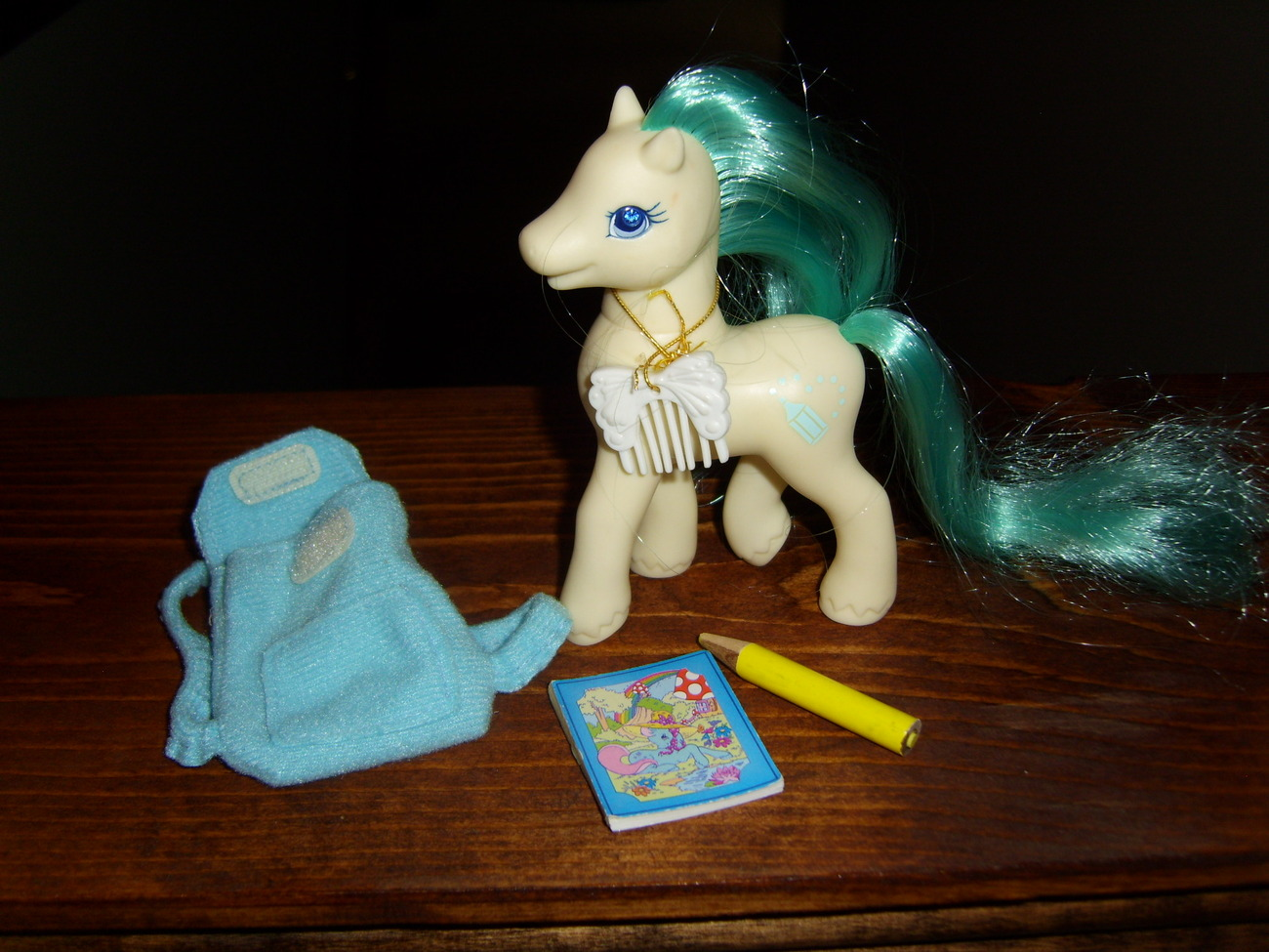 My Little Pony G2 Junior complete with backpack, book, pencil and comb