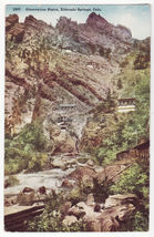 ELDORADO SPRINGS COLORADO OBSERVATION STAIRS ~ c1910s-1920s old postcard - $7.31