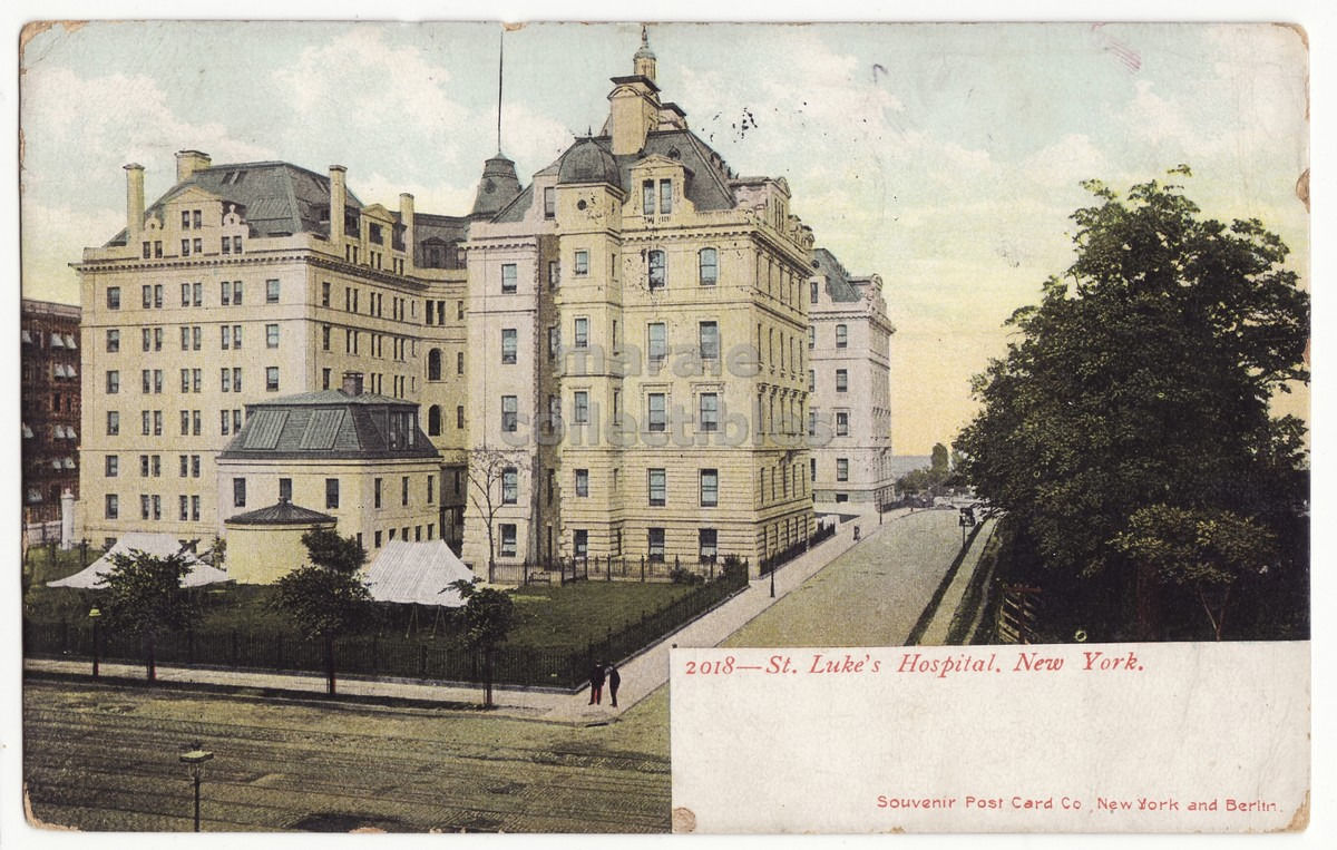 Primary image for New York City NY - ST LUKE'S HOSPITAL - 1900s vintage postcard - NYC