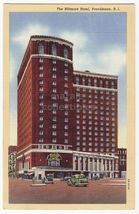 Providence Rhode Island RI, Biltmore Hotel Front View c1940s old postcard - $3.22