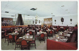 Hollywood CA, Tick Tock Restaurant Interior c1960s advertising postcard ... - $3.63