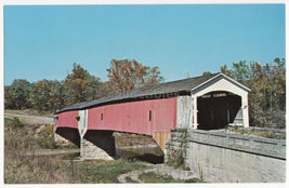 ROCKVILLE IN- WEST UNION COVERED BRIDGE-PARKE COUNTY INDIANA No 26 postcard - $2.71