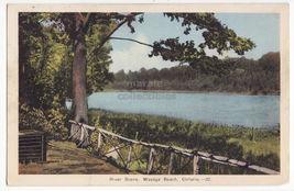 River Scene WASAGA Ontario 1930s vintage scenic Canada PECO postcard - $3.63