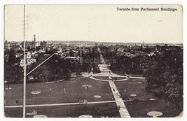 TORONTO ONTARIO GENERAL CITY VIEW FROM PARLIAMENT BUILDINGS 1910 Canada ... - $3.63