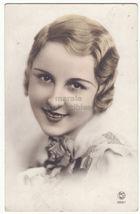 Short Hair Art Deco Blond Woman face portrait c1930s tinted postcard - $6.39