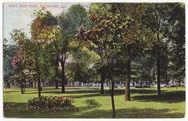 Rickford IL, East Side Park, c1910 vintage Illinois postcard - $5.47